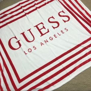 Guess Super Soft Fleece Blanket/Throw